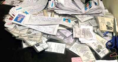 Congress, BJP spar over voter ID cards found in Bengaluru flat