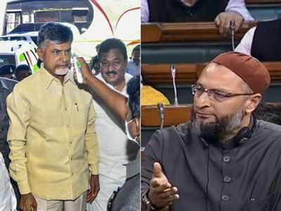 Chandrababu Naidu calls PM Modi a statesman; Asaduddin Owaisi says PM ignored plight of majority