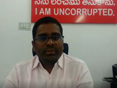 I am not corrupt: Telangana officer puts up board outside his office