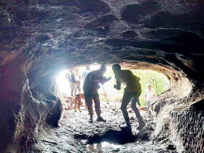 Two Buddhist caves discovered by farmers in Pavana-Maval