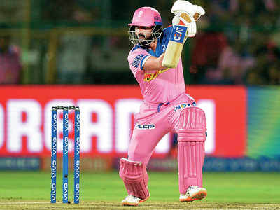 Ajinkya Rahane of Rajasthan Royals strikes back