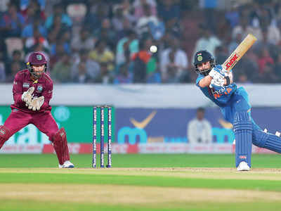 India vs West Indies first T20I: Virat Kohli joins run-fest with undefeated 94 as Men in Blue defeat visitors