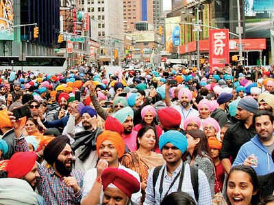 Turbans take over Times Square