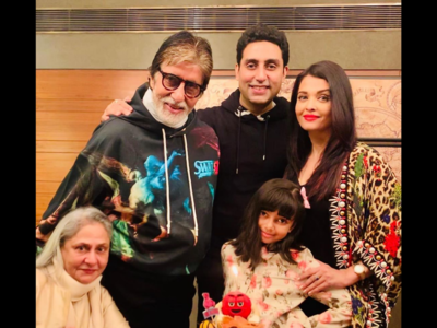 Photos: Abhishek Bachchan rings in his 44th birthday with family