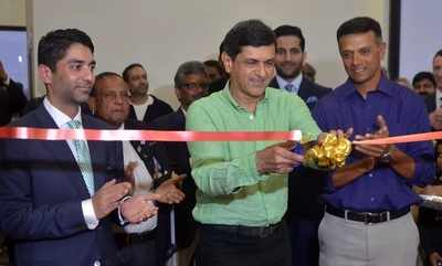 Rahul Dravid, Prakash Padukone inaugurate Abhinav Bindra's Targeting Performance Centre in Bengaluru
