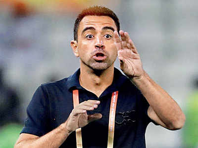 Barca offer Xavi the ball, but he passes for now