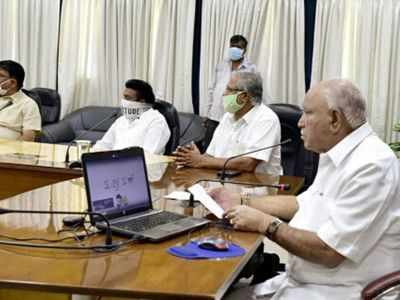 Chief Minister BS Yediyurappa holds meeting with senior officials to assess fiscal position of Karnataka