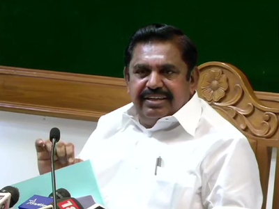 AIADMK announces Edappadi K Palaniswami as chief ministerial candidate for next year's assembly polls