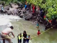 Raigad: 55 students rescued from Devkund waterfalls