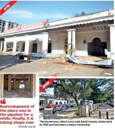 Bengaluru's iconic India Garage showroom on St Mark's Road is being pulled down to make way for commercial complex
