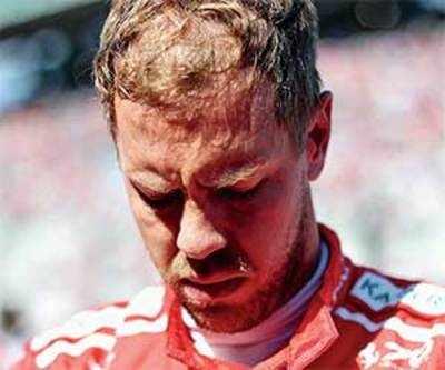 Vettel's title hopes frazzled