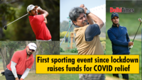 First sporting event since lockdown raises funds for COVID relief