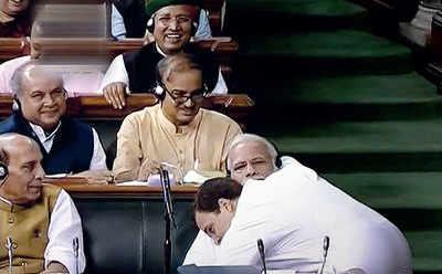The hug that Modi so hates