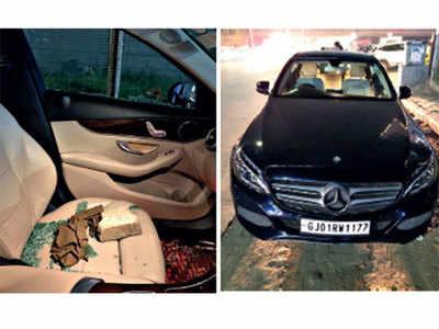 Thieves break Merc windshield, flee with Rs 50,000