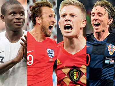 FIFA World Cup 2018: Kevin De Bruyne, N'Golo Kanté, Luka Modric and Harry Kane set out to make World Cup their own