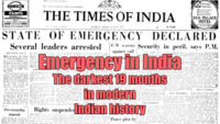 Indira Gandhi, then the PM of India, declared a state of Emergency in the country in 1975