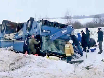 4 children among 7 killed in Russia bus crash: Officials
