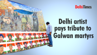 Delhi artist pays tribute to Galwan martyrs