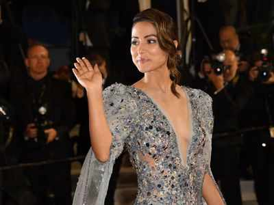 Hina Khan dazzles at the Cannes Film Festival in Ziad Nakad couture