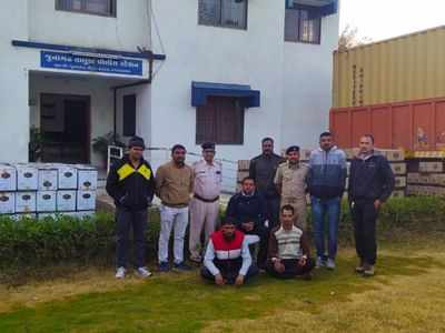 Two caught smuggling Rs 44 lakh IMFL from Haryana to Gujarat