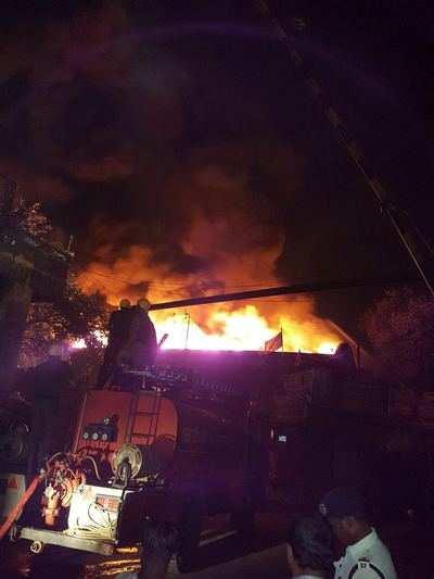 Kolkata: Major fire breaks out in warehouse of Calcutta Port Trust