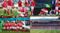 EURO 2020: Fans cheer for Denmark's Christian Eriksen who collapsed on field