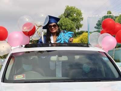 City school hosts first drive-thru graduation ceremony