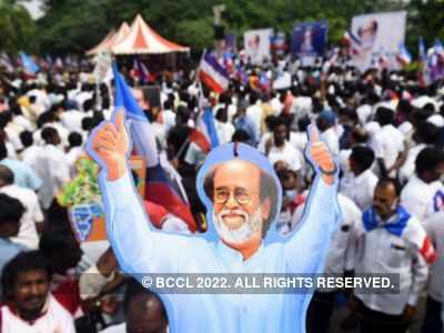 Rajinikanth fans gather in Chennai to request actor to enter politics