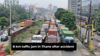 Accident, oil spill on road leads to massive jam on Ghodbunder Road