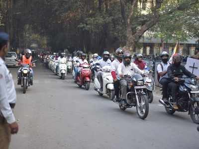 Helmet Ride rally creates awareness about road safety