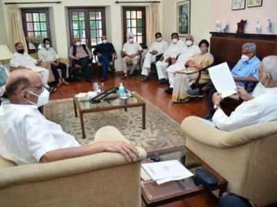 Opposition leaders meet at Sharad Pawar's Delhi residence