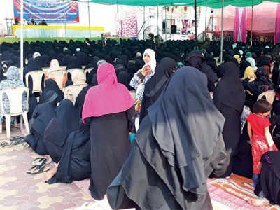 Muslim men mobilise women for mass rally against triple talaq Bill