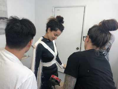 Photos: Kangana Ranaut gets measured for prosthetics for Thalaivi