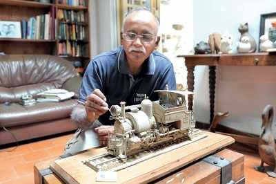 From building cardboard models to a garden railway and a transport museum, TR Raghunandan is trying to give the dying steam engine its due