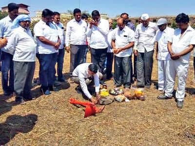 Restoration starts at Sangram Durg