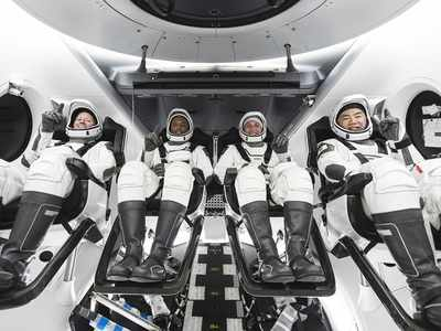 Elon Musk's SpaceX rocket launches four astronauts to space station for a six-month science mission