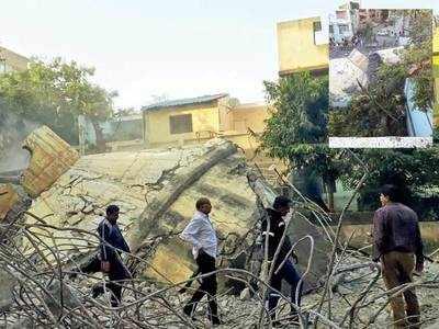 Tank demolition ends up damaging houses