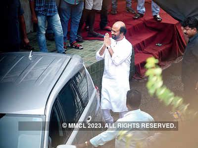 Before the lockdown, Rajinikanth spotted shooting Darbar in Mumbai