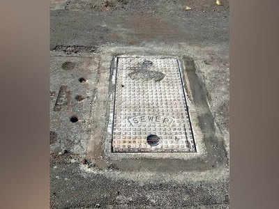 Broken manhole at Khadki plugged