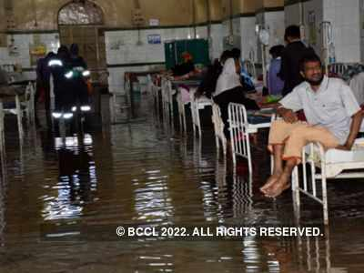 Wards flooded as drainage water enters Hyderabad's Osmania Hospital
