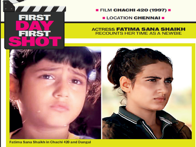 First day, first shot: Fatima Sana Shaikh recounts her time as a newbie on the sets of Chachi 420