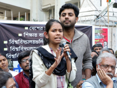 JNU Students' Union president Aishe Ghosh denied permission by Calcutta University for public meeting