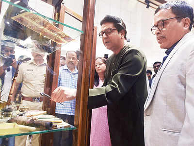 MNS chief Raj Thackeray attends a book launch
