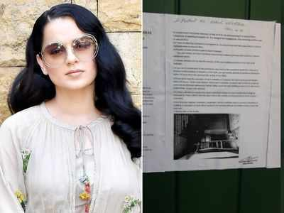 BMC issues notice to Kangana Ranaut, asks her to reply within 24 hours about the alleged illegal construction