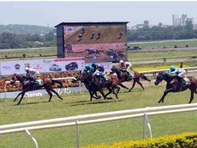 Pune racecourse entertains a special guest