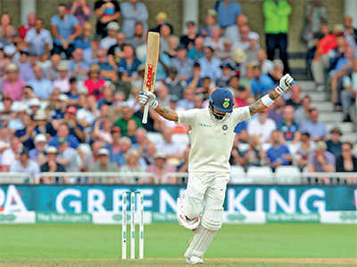 India vs England test series: Virat Kohli hits a century, India set England mammoth 521-run target
