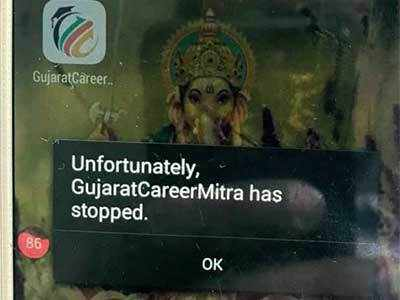 Many class 10 students can't take aptitude test as Mitra App fails due to technical glitches
