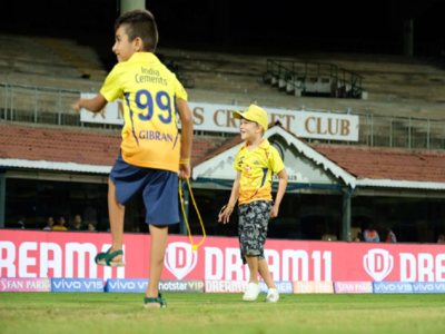 As MS Dhoni-led CSK continue their victory run, the 'cubs' enjoy the celebrations