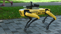 Robot dog on coronavirus patrol