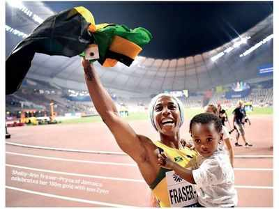 World Athletics Championship: Shelly-Ann Fraser-Pryce claims her fourth 100m world title